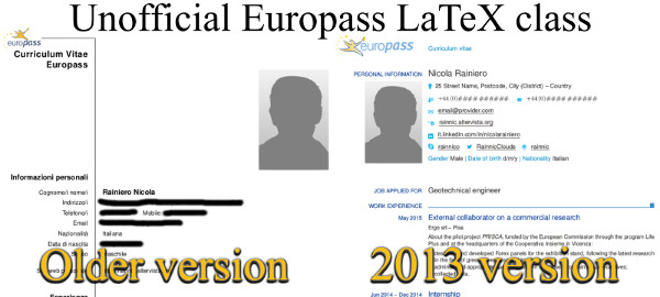 Another Latex Template For The 2013 Europass Cv Rainnic In The Clouds