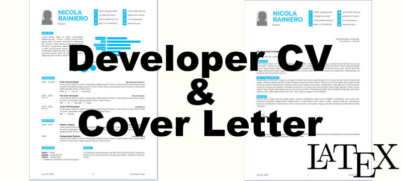 Template for Developer CV with my updates and cover letter ...