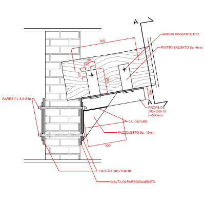 Detailed arrangement drawings of a wooden and masonry structure
