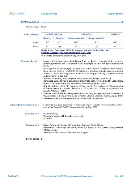europass cover letter  sample cvs