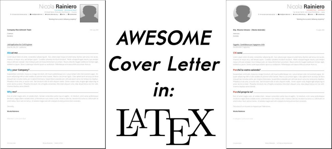 An awesome cover letter template in LaTeX