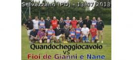 "6th edition of ""Fioi de Gianni e Nane"" rossoblu vs. ""Quandocheggiocavoio"" tuttineri (1977/'78 age class )"