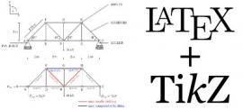 LaTeX and 2D structural mechanics diagrams