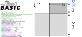 FreeBASIC software to compute a sheet pile wall in layered soil