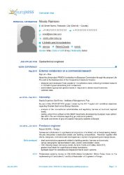 My Europass CV (2013 version) page 1 of 3