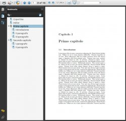 A PDF with bookmark