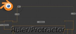 Ruler/Protractor: new feature in Blender