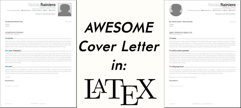 An awesome cover letter template in LaTeX | Rainnic in the ...