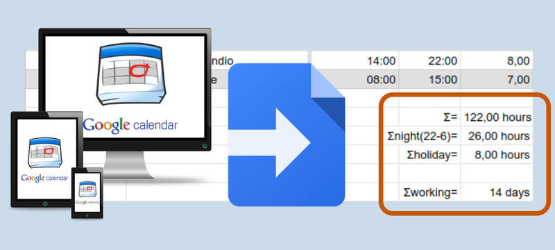 How to extract night and holiday hours from your Calendar with Apps Script
