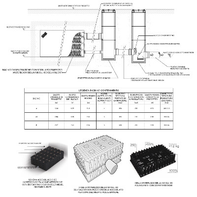 Detailed arrangement drawings of a storm sewer system for a parcelling plan.