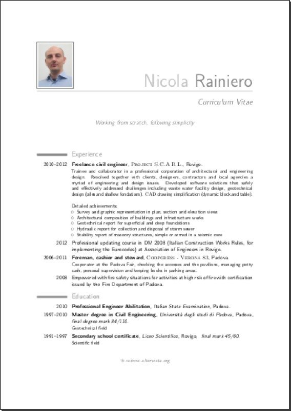 model of curriculum vitae