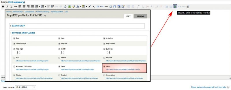 Iframe tags in TinyMCE editor and Drupal 7 x | Rainnic in