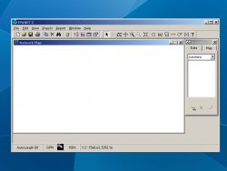 A screenshot of the working program