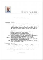 My ModernCV (English version) page 1 of 2