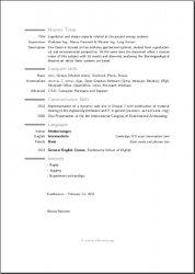 My ModernCV (English version) page 2 of 2