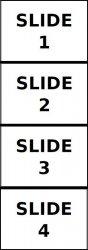 Esempio visivo del file di output 4-slide