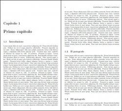 Esempio visivo del file di output two-side