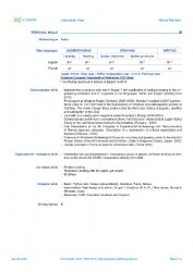 Europass CV (2013 version) pagina 3 di 3