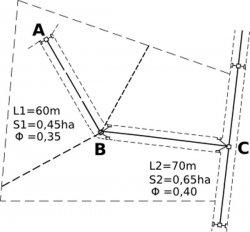 Ipotesi di schematizzazione con il metodo dell'invaso