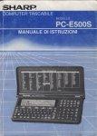 Copertina del manuale in italiano della Sharp PC-E500S